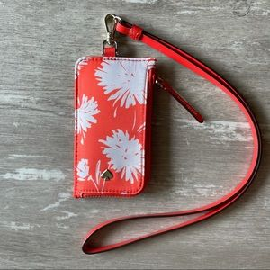 Kate Spade Jae Card Case Lanyard - Orange Blossom